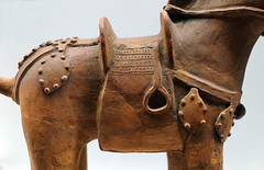 Haniwa, horse, detail with saddle