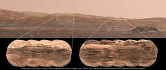 Zooming on the base of Mount Sharp with Remote Micro Imager - sols 1520 & 1521 (thomas_appere) Tags: mars msl curiosity rover robot science nature technology technologie colline hill mountain montagne