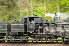 Cass Shay 11 panned  D5848-1 (charles buccola) Tags: cass shay cloudy spring steamlocomotive touristrr