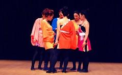 Group Conference (Sakuramai Toronto) Tags: dance danceto music yosakoi toronto japan japanese         indoor people girl dancer group costume color pink yellow orange purple hardwood