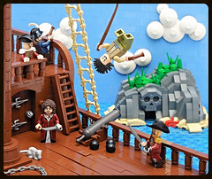 Pirate Cove (vitreolum) Tags: lego pirates cove forcedperspective vitreolum