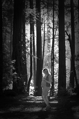 Our daughter-in-law posing in The Forest of the Nisene Marks state park California. Our first grandbaby in the works! (Serrator) Tags: sierra drew maternity california 2016 portrait