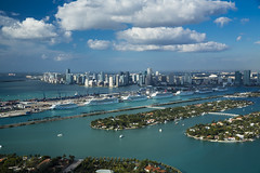 Miami Helicopter Ride (vieerrante) Tags: copyright2014paulmorris imagecreatedbypaulmorris miami aerial developement downtown realestate