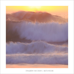 Strawberry and Cream (Beata Moore) Tags: sea ocean atlantic wave sunset seascape beatamoore