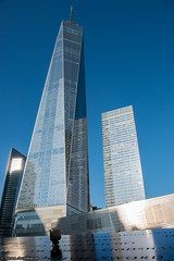 Freedom Tower with rose (archs21) Tags: wtcbday worldtradecenterone freedomtower 911 tribute rose birthdates reflections new york city