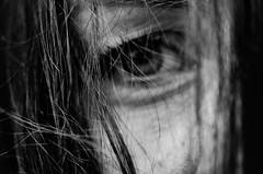 me (ChristinaWieck) Tags: me self selfportrait selbst selbstportrait sw blackwhite schwarzweiss auge haare melancholie moment nikon 105 105mm