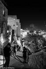 DSCF9695 (Joshua Williams' Photography) Tags: jerusalem israel bw night oldcity