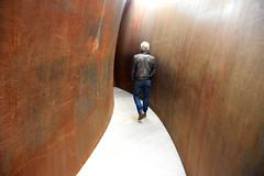 Between Walls (YIP2) Tags: richardserra openended sculpture art wall walls people watching museumvoorlinden voorlinden wassenaar