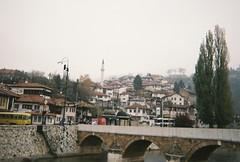 (Karsten Fatur) Tags: landscape city history bridge architecture hill mountain fog mist weather sarajevo bosnia bosniaandherzegovina europe travel adventure explore film 35mm analogue vintage kodak disposablecamera