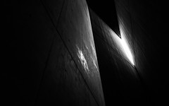Jewish Museum 1 (MichaelBmxking) Tags: leica q leicaq leicatyp116 typ116 lightroom cc adobe berlin germany jewish museum blackandwhite black white architecture indoor structure building art memorial light shadow angle view silence lost own availablelight available
