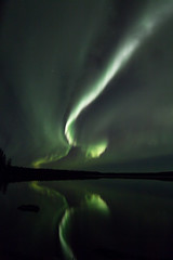 Aurora over Mid Lake (She Likes Odd) Tags: aurora auroraborealis auroralarc northernlights northernmanitoba thompson manitoba tokina1116mm tokina canon60d canoneos60d canonphotography spaceweather geomagneticstorm nightsky nightphotography astrophotography