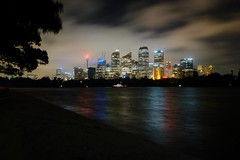 Sydney Harbour 1 (Shawn Sijnstra) Tags: sydney night light dark reflections reflection harbour sydneyharbour