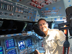 Pilot's Seat of Space Shuttle Endeavour (jurvetson) Tags: 2 building up bay power space flight cockpit center deck shuttle processing ksc kennedy lat orbiter opf endeavour swansong goflight