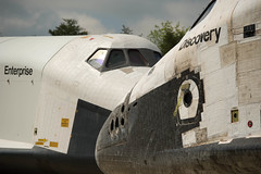 Shuttle Discovery Arrives at Udvar-Hazy (201204190028HQ) (NASA HQ PHOTO) Tags: usa virginia nasa va enterprise discovery spaceshuttle chantilly stevenfudvarhazycenter carlacioffi