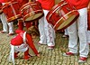 """Toca a Rufar"" (Percussion band) (pedrosimoes7) Tags: street red music portugal children lisbon candid 25deabril flickrduel percussionband tocaarufar marquêsdepombal"