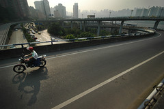 Motorradfahrer in Chongqing