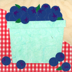 Maine Berries Blue (urchinmama) Tags: collage mixedmedia maine corea downeast chaptertwo betsythompson berriesblue