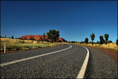 Road to Uluru (Explored) (Sir Mashington the 27th) Tags: road nature rock rural landscape nt 5 sony australia explore outback uluru northern ayers territory ayersrock nex explored