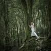 Enchanted (_ justintheframe_) Tags: trees forest woodland moss woods nikon weddingdress gettyimages tonemapped trashthedress d300s justintheframe