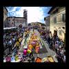 Spello, Infiorata (R.o.b.e.r.t.o.) Tags: street flowers people italy backlight nikon strada italia gente pg persone roberto fiori umbria spello infiorata hdr1raw corpusdomini d700 10giugno2012ore0800