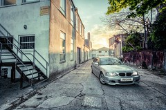 Under the Sunset (Robbie Khan) Tags: sunset car canon angle wide bmw 5d khan robbie coupe 1740mm hdr e46 1740l robbiekhan
