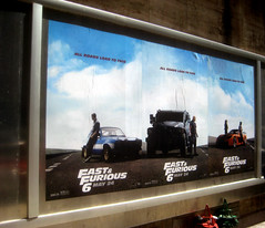 Fast and Furious 6 Billboard ADs  0222 (Brechtbug) Tags: new york city nyc urban 6 cinema cars up car racecar work painting movie poster square this drive smash paint theater driving all action crash near working fast racing billboard advertisement chase billboards worker roads em six lead herald furious 2013