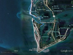 Fort De Soto kayaking map - October 15, 2012 (cell911) Tags: gulfofmexico stpetersburg florida map kayaking gps googleearth fortdesoto ftdesoto gpsmap76csx