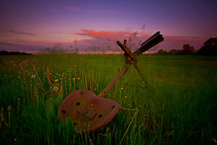 The Contraption (-Rodbod-) Tags: longexposure sunset rural landscape countryside farm wideangle fields contraption ruraldecay hertfordshire cokin d7100 nikon1024 nikond7100 haida10stopnd