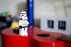 Lego Stormtrooper (birdonthehill) Tags: starwars lego ukulele sony stormtrooper sal35f18