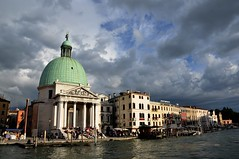 Stormy Clouds Over Venice (Crumblin Down) Tags: santa bridge venice vacation sky italy holiday station st clouds train square san italia dusk mark basilica railway canals marks campanile lucia marco gondola venetian piazza murano venezia gondolier burano cal2014