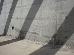 Cracked concrete at Nashville Music City Center (United Structural Systems (USS)) Tags: city music concrete nashville tennessee center cracked shotcrete micropile foundationrepair unitedstructuralsystems