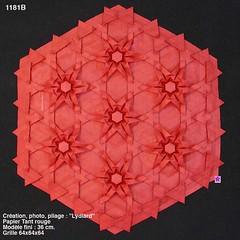 1181B (LydiaDiard paperfolledingue) Tags: art geometric paper 3d origami hexagon papier tessellation tesselation paperfolding volume volum tant lydiard géométrique pliage hexagone paperfold pliagedepapier lydiadiard paperfolledingue