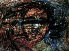 Blue Eyed Disciple (giveawayboy) Tags: art pen tampa sketch artist drawing crayon fch giveawayboy billrogers