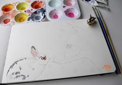 "Work in Progress : "" Love Conquers All "" (Milagritos9) Tags: rabbit stars handmade workinprogress visualjournal visualart whiterabbit petportrait moleskinerie mily artistjournal lovebunny visualdiary milagritos illustratedjournal foxportrait pupito moleskinejournals magicrabbit petjournal artmoleskine conejitoblanco rabbitillustration inspirationaljournal milycha diarioilustrado spiritualjournal rabbitjournal moleskineartpages moleskinewatercolours watercoloursmoleskine moleskinepaintings rabbitmoleskine petdream retratoconejo thelittleprinceandthefox finallyfriendsillustration elprincipitoilustracin retratozorro elmagisteriodelzorro magicfox loveconquersallillustration"