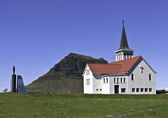 Grundarfjarðarkirkja (geh2012) Tags: church iceland kirkjufell ísland snæfellsnes minnismerki kirkja grundarfjörður geh grundarfjarðarkirkja gunnareiríkur