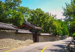 along wall still (gwnam.2008) Tags: road old city roof people heritage stone wall architecture gate downtown cityscape traditional perspective royal pedestrian palace korea seoul gung 서울 한국 deoksugung 궁궐 jongro 종로 덕수궁 궁 jeongdong 정동