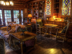 Adirondack Charm (Decaseconds) Tags: wood game antique room rustic lodge checkers hdr adirondack