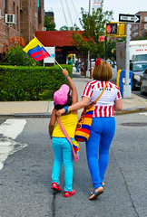 ColombiaDay2013(QueensNY) (bigbuddy1988) Tags: new city nyc family summer portrait people usa ny newyork color love girl kids digital photography nikon colombian flag mother culture pride parade spanish independence ethnic colobia d7000 colombianparade nikond7000 colombiaindependence