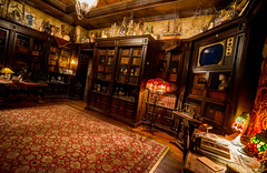 Hollywood Studios: Tower of Terror / Library (Hamilton!) Tags: world lake tower zeiss bay library sony hamilton disney resort hollywood carl terror vista studios walt gitzo buena a99 variosonnart281635 pytluk