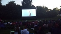 Movies on Main: Sound of Music (Unionville BIA) Tags: park street music andrews julie outdoor main millennium sing sound movies bandstand along unionville