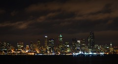 Seattle Sky line (Anupam_ts) Tags: seattle sea beach skyline night port photography nikon cloudy alki alkibeach 5100 dslr nikondslr nikon5100