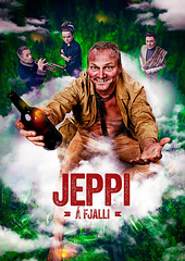 Jeppi (LalliSig) Tags: portrait sky people orange cloud green clouds studio poster happy bottles drink dirty alcohol portraiture actor jolly  ingvar eggert borgarleikhs sigursson borgarleikhsi ilmur jeppi bergr fjalli