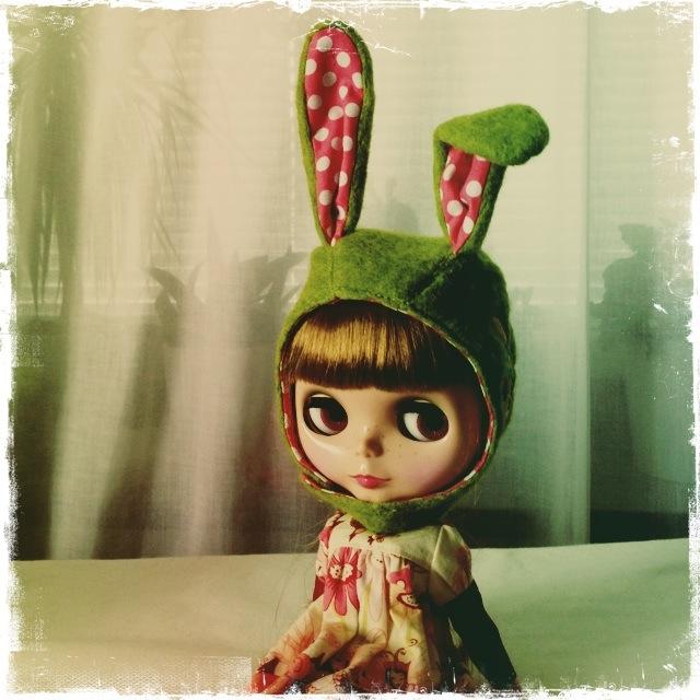 Final version of funny Bunny Helmet!