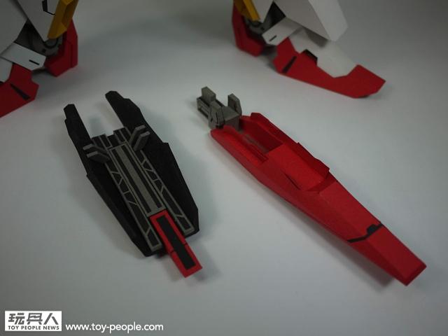 """【玩具人沈孟儒投稿】紙模型7200ss Z鋼彈 全程無墨線製作,自行改裝""""可動""""效果"""