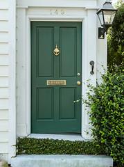 letters (doddsjzi) Tags: door photo vines teal entrance knocker lantern charlestonsc shrubbery mailslot tealgreen gaslantern charlestonsinglehouse
