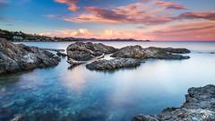 Sunset Les Issambres (danrunisland) Tags: longexposure sunset beach colours frenchriviera lesissambres leefilter flickrandroidapp:filter=none