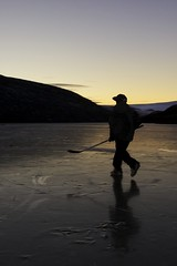 The Prospect (Clare Kines Photography) Tags: sunset canada ice hockey pond north arctic nunavut arcticbay deaddoglake