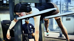 Please step out of the vehicle... (DJ DeeVise) Tags: auto woman game cold silly strange truck pose weird funny rockstar 5 steel over police fork grand xbox 360 security prostitute v cop stupid incident gta situation theft hooker officer position forklift pulled compromising ps3 x360 gta5 gtav gtaphotographers snapmatic