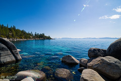 Deep Blue (ericvilendrerphoto) Tags: california blue sky sun lake water nikon rocks nevada laketahoe nikond600 tokina1628mm