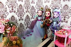 Wonderland Dolls (Osmundo Gois) Tags: hearts spring high doll cheshire kitty lizzie after madeline ever mattel hatter unsprung